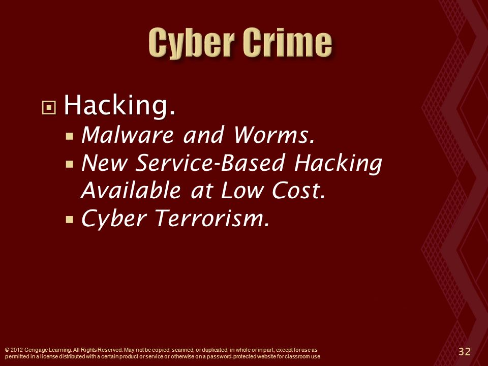  Hacking.  Malware and Worms.  New Service-Based Hacking Available at Low Cost.