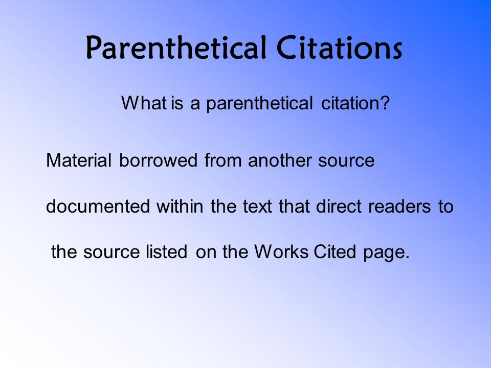 How do you quote a source within a source in parenthetical citations?
