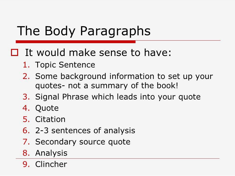 Body Of Essay