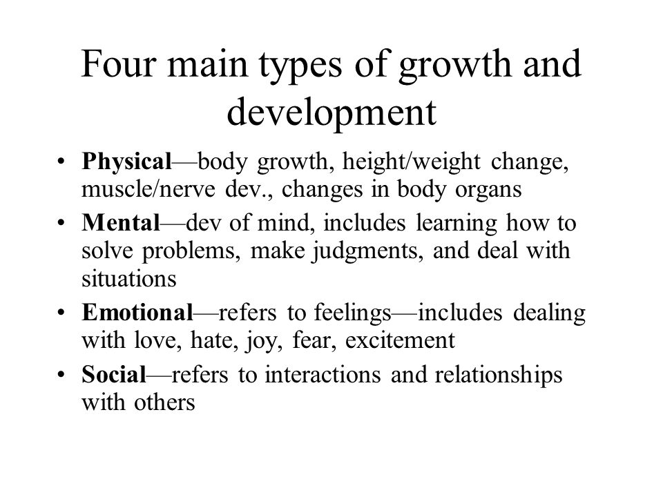 human growth and development Human development: human development, the process of growth and change that takes place between birth and maturity human growth is far from being a simple and uniform process of becoming taller or larger.