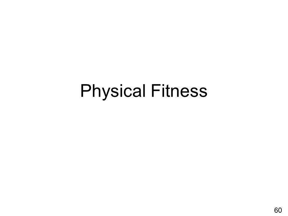 Physical Fitness 60