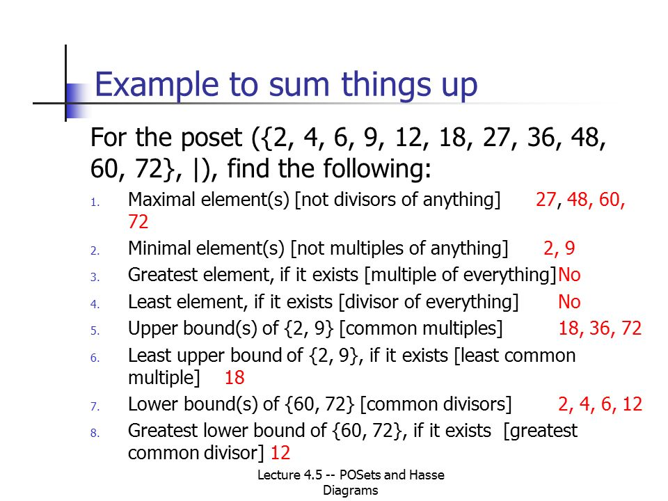 Lecture 45 posets and hasse diagrams cs 250 discrete structures 19 example ccuart Gallery