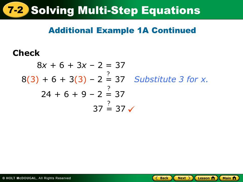 3 Step Equations - Jennarocca