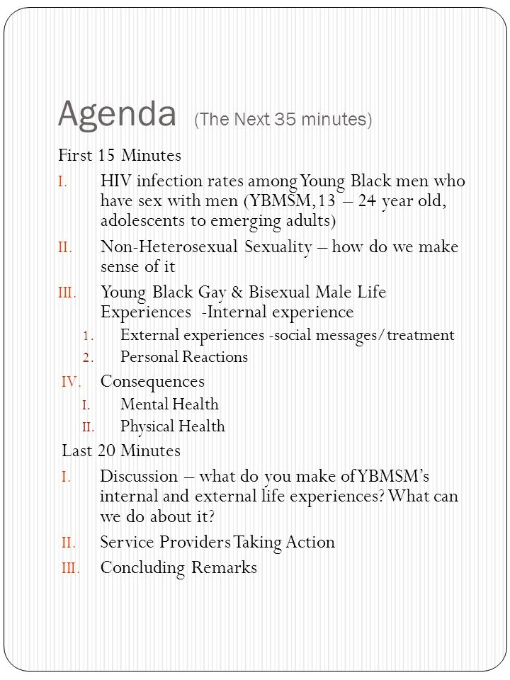 Agenda (The Next 35 minutes) First 15 Minutes I.
