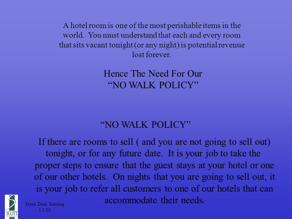 A hotel room is one of the most perishable items in the world.