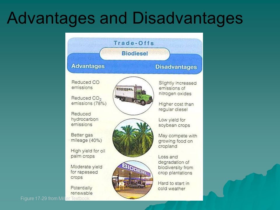 Advantages and Disadvantages Figure from Miller Textbook