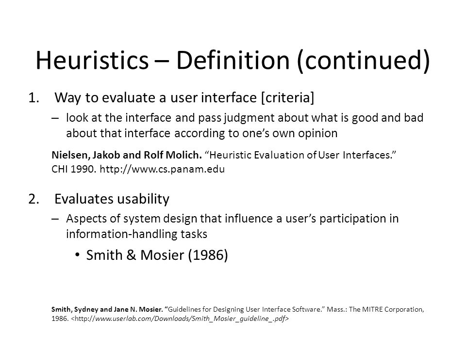 Image result for Heuristics Definition