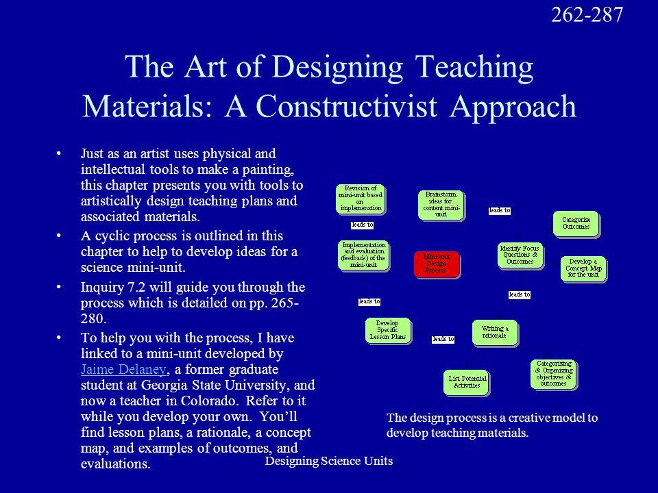 Designing Science Units Mini-Unit Design Process 265-280