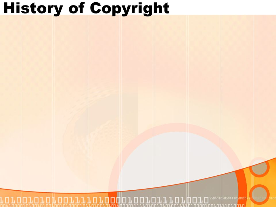 History of Copyright