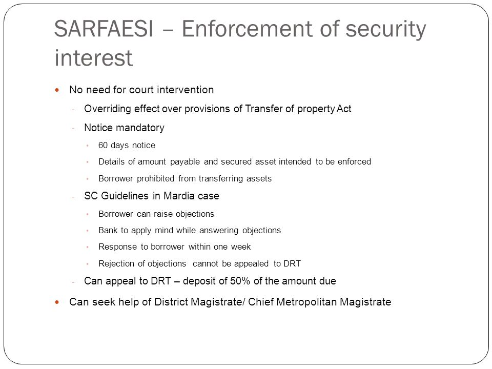 Assignment of security interest