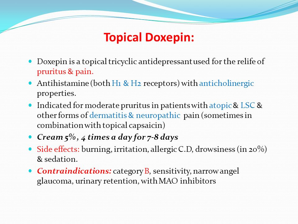 Doxepin and itching
