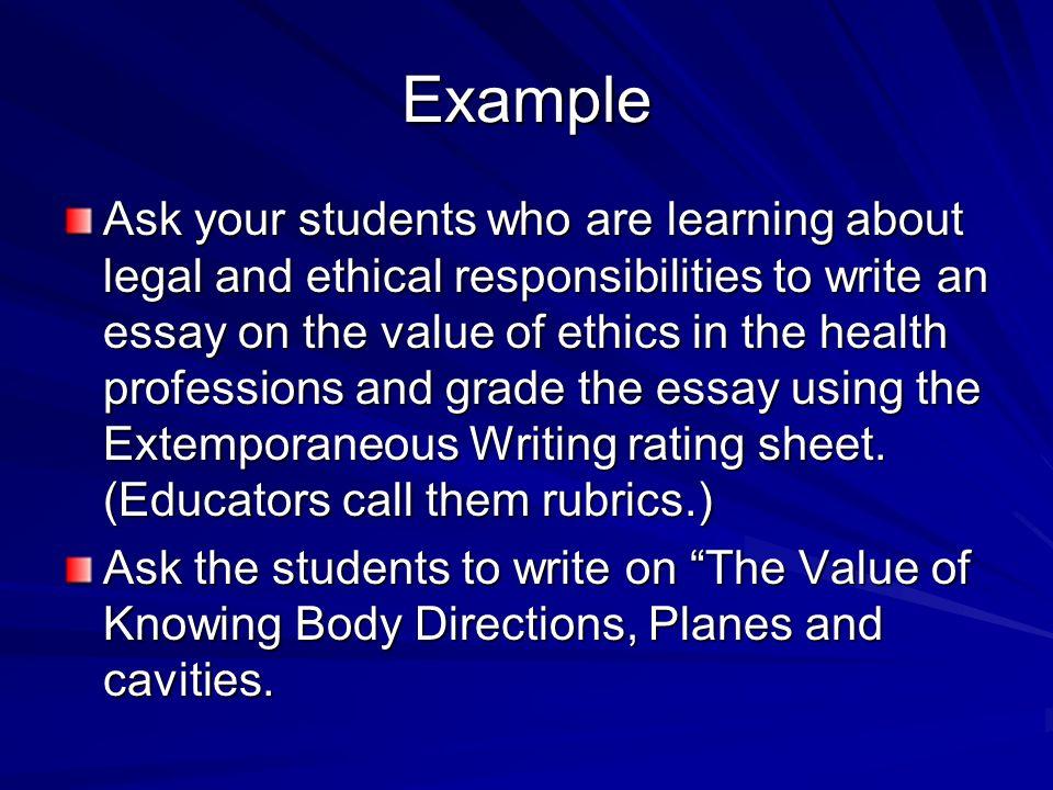 extemporaneous essay definition