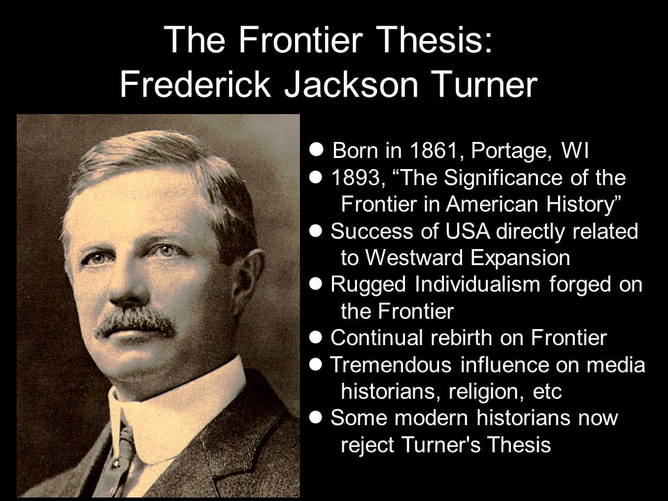 frederick jackson turners thesis 1890