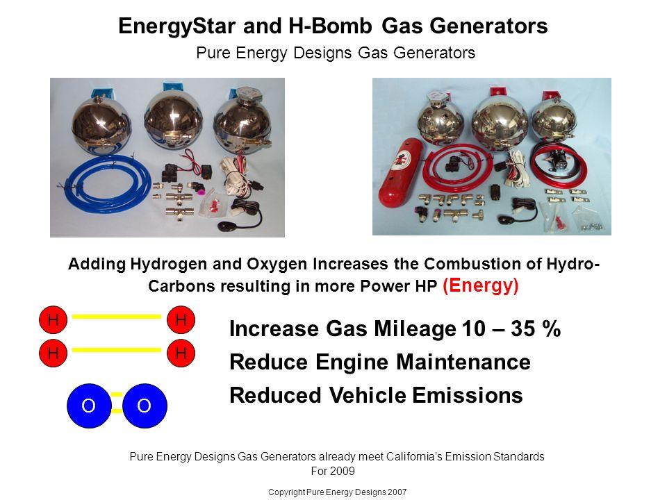 EnergyStar and H-Bomb Gas Generators Increase Gas Mileage 10 – 35 ...