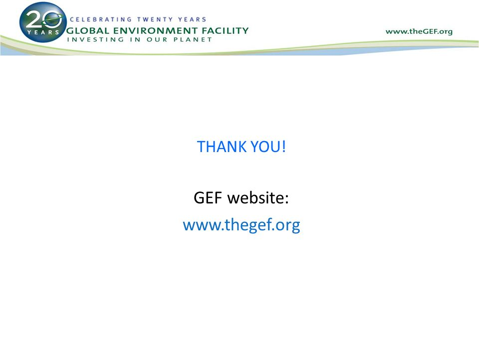 THANK YOU! GEF website: