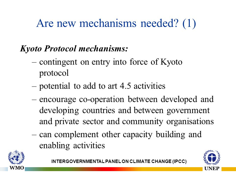 Are new mechanisms needed.