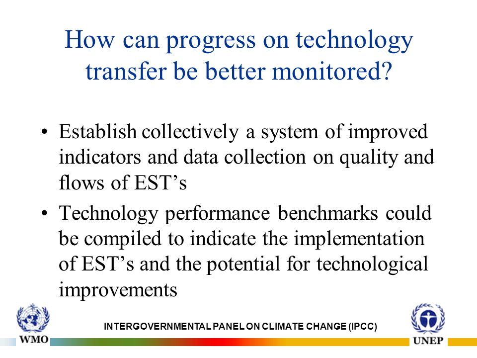 How can progress on technology transfer be better monitored.