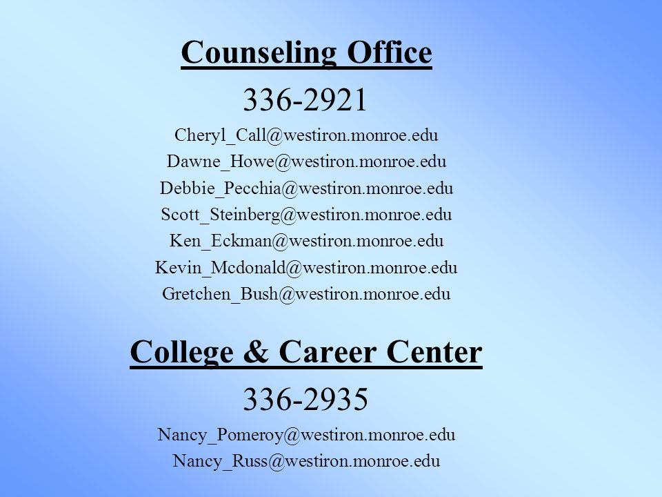 Counseling Office College & Career Center