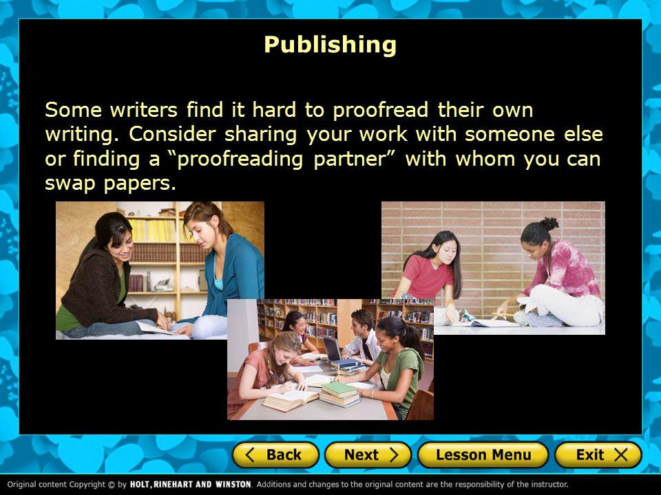 Will you please proof read my descriptive essay?