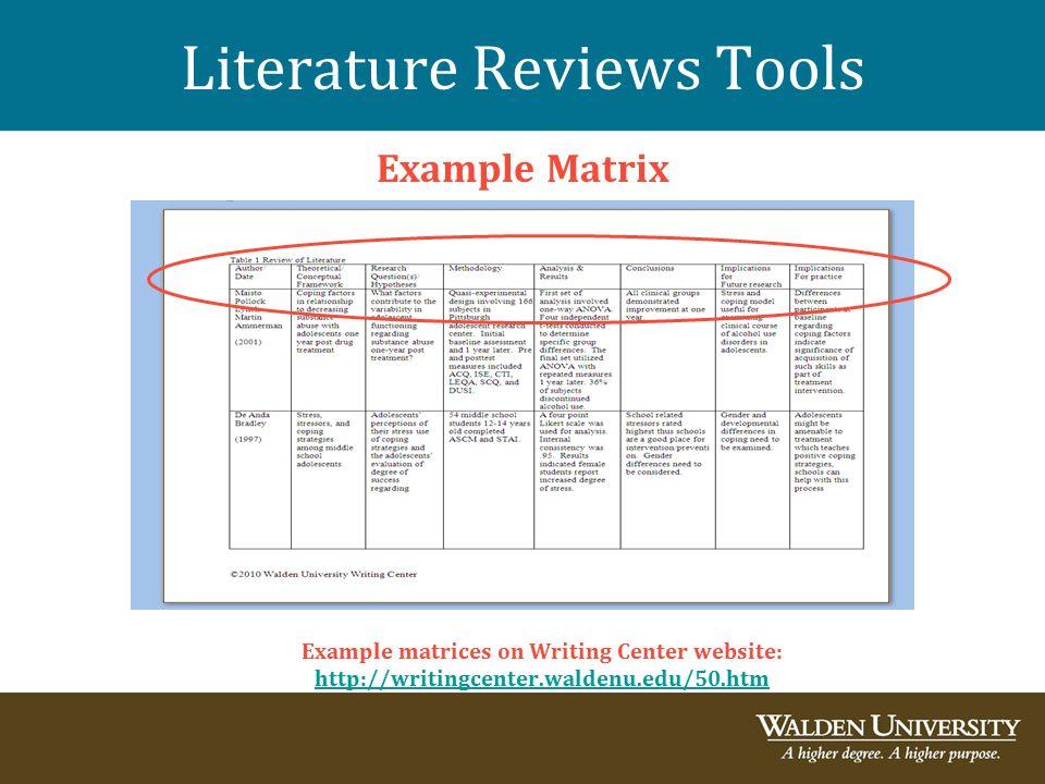 Sample literature review SlideShare