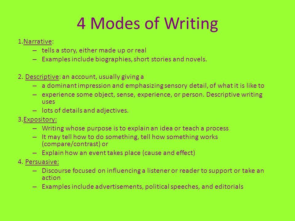 pre writing story