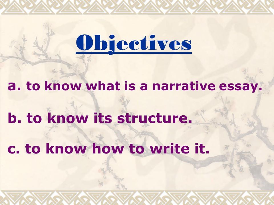 How To Write A Narrative Essay Outline