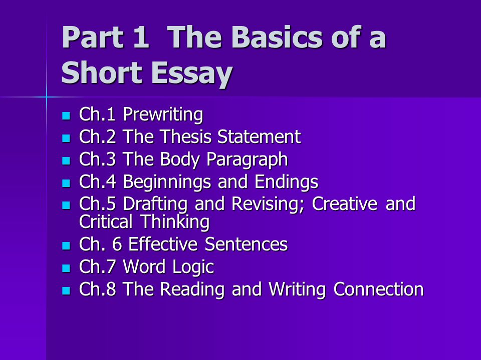 Can Someone give me a example of a thesis statement for a descriptive essay?(10 points promised!)?