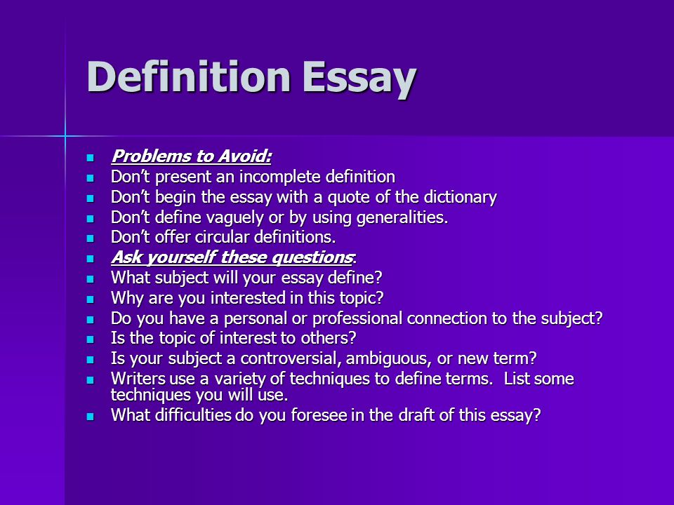 starting essay with definition As you finish your informative essay, you start to expand on your explanation of who smiley informative essay: definition, examples & structure related study.