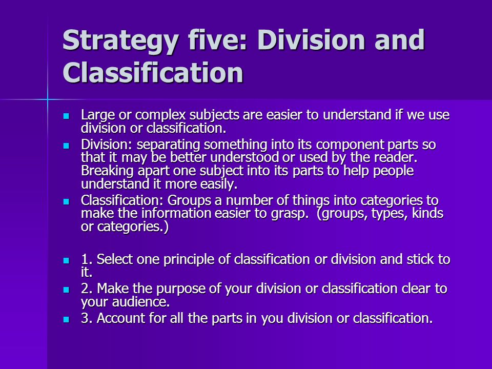 classification and division essay college stress An essay is, generally,  classification and division classification is the categorization of objects into a larger whole while division is the breaking of a larger whole into smaller parts  an essay mill is a ghostwriting service that sells pre-written essays to university and college students.