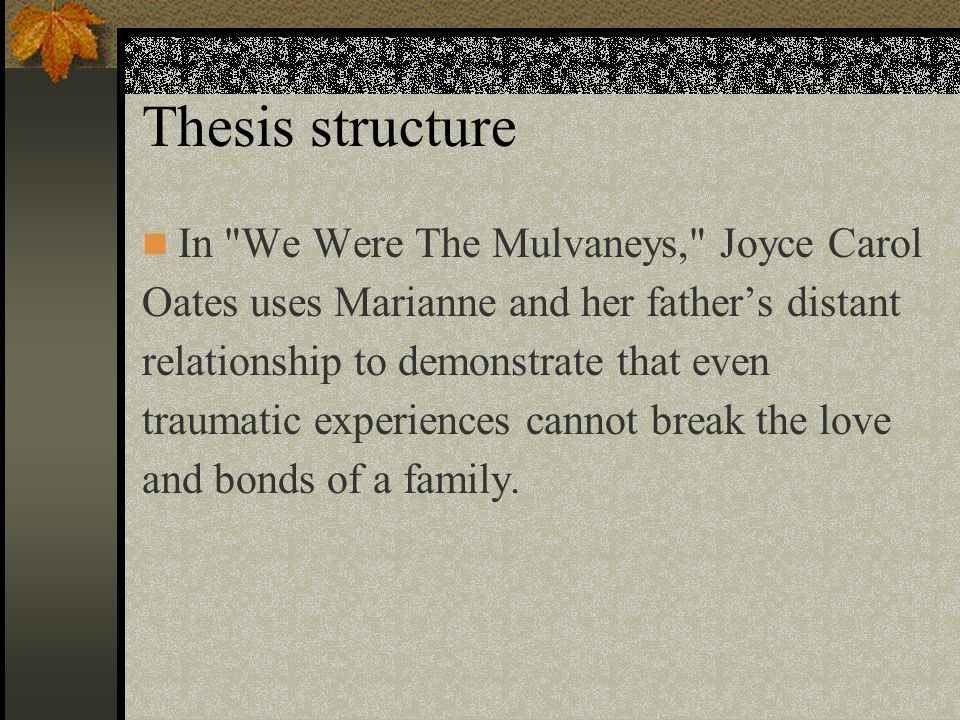 thesis about family relationships