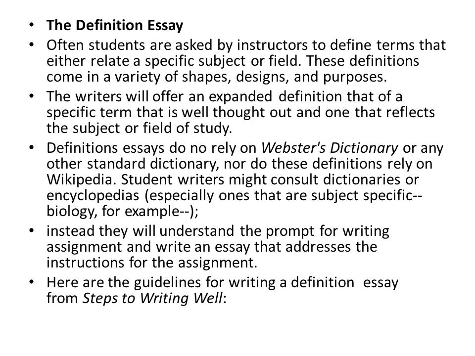 definition essay the evolved definition of community Free sample family definition essay order definition essay on family written by degree holding writers at our professional writing service.