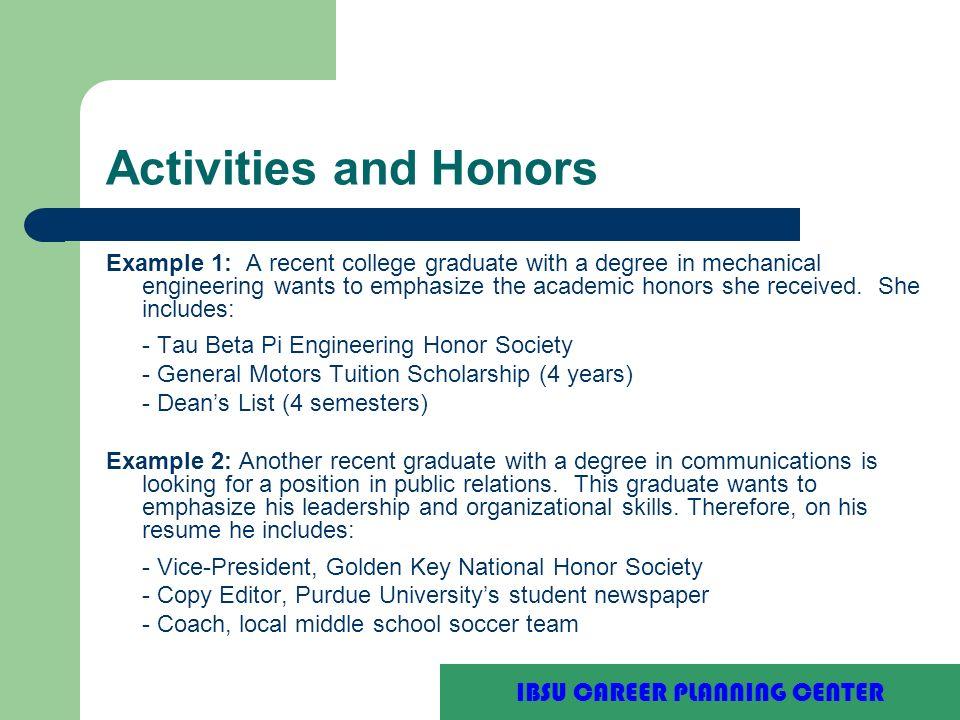 Resume examples for recent college graduates