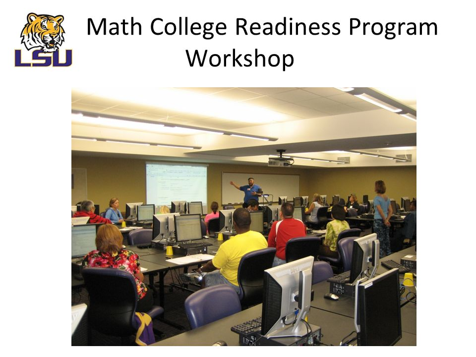 Math College Readiness Program Workshop