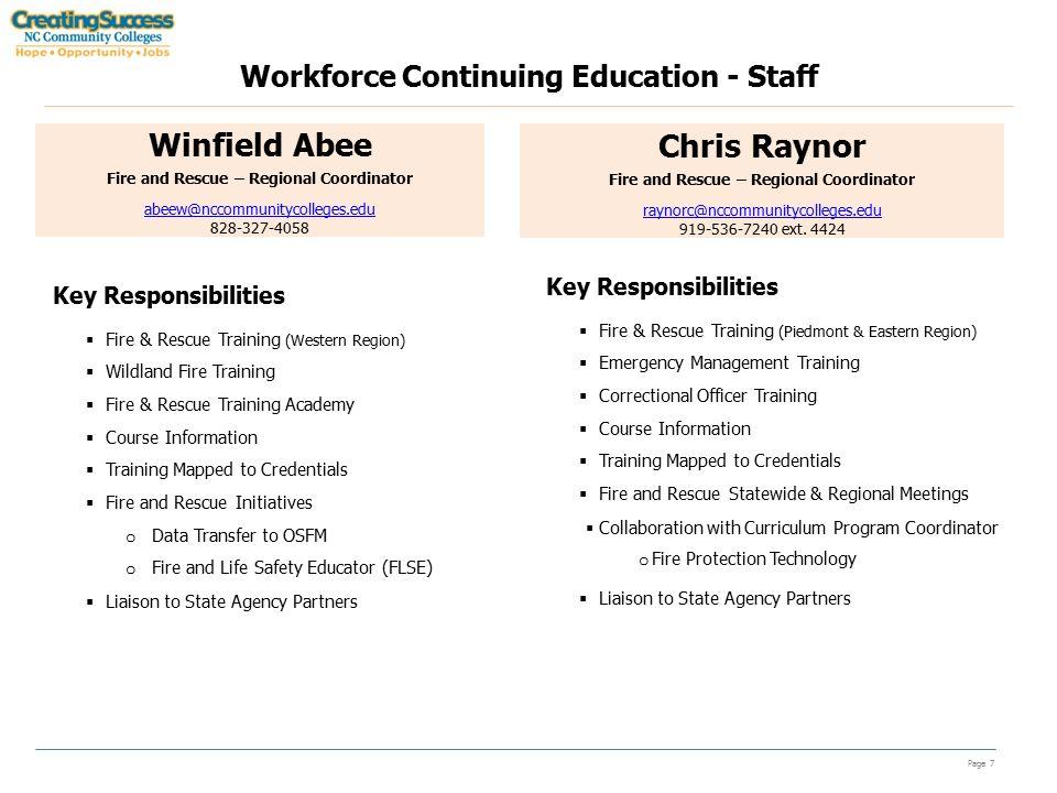 Workforce Continuing Education Updates/Handouts North Carolina ...