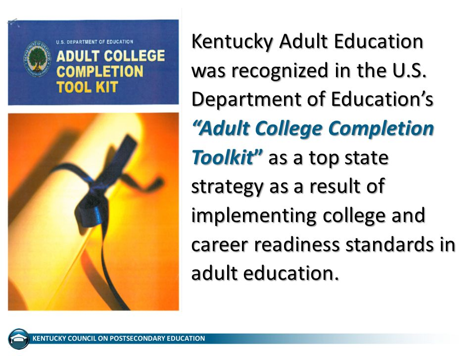 Kentucky Adult Education was recognized in the U.S.