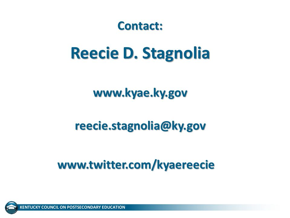 Contact: Reecie D. Stagnolia