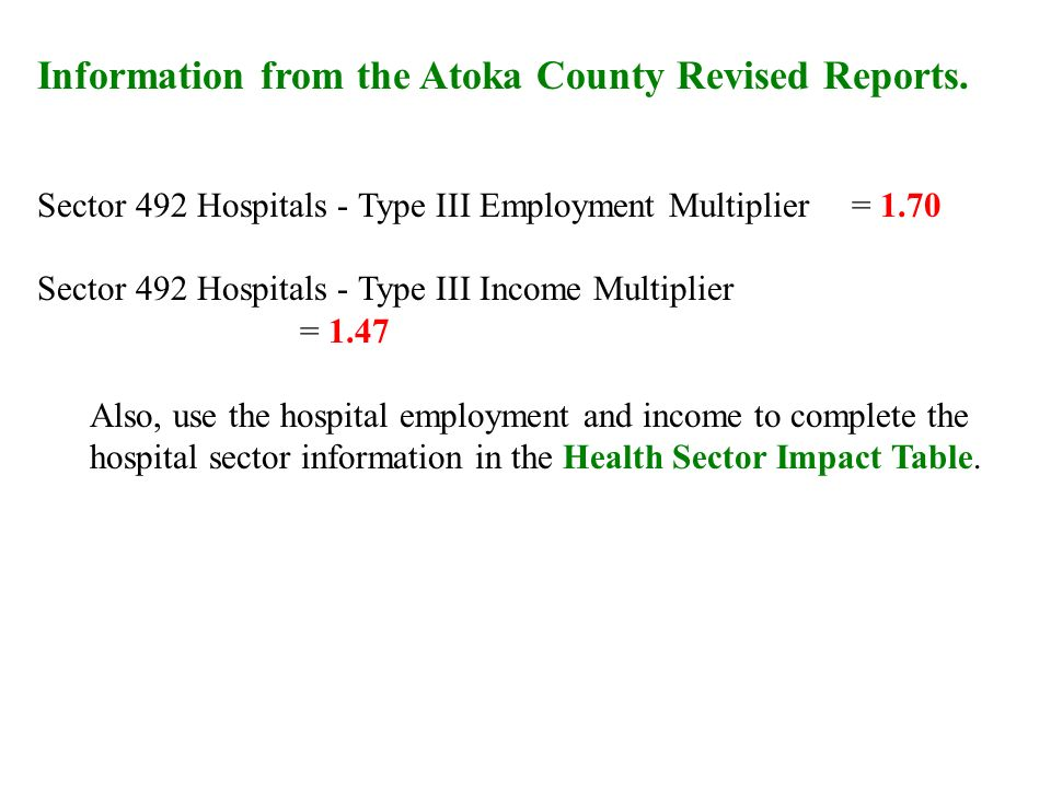 Information from the Atoka County Revised Reports.