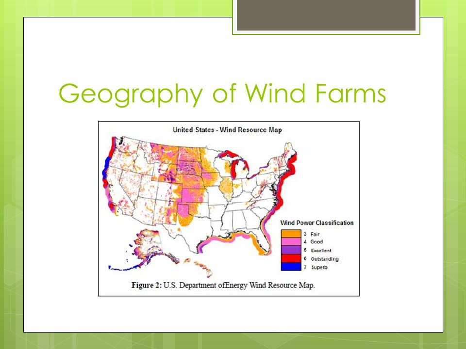 Geography of Wind Farms