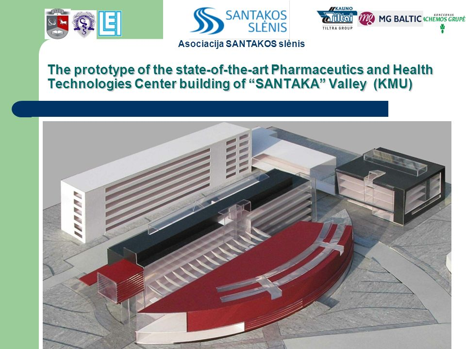 The prototype of the state-of-the-art Pharmaceutics and Health Technologies Center building of SANTAKA Valley (KMU) Asociacija SANTAKOS slėnis