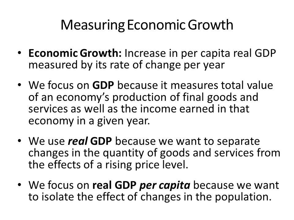 How do i explain GDP and per capita GDP?