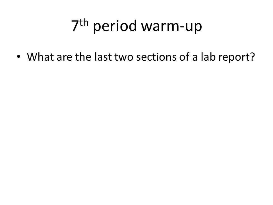 What Is the Format of a Lab Report?