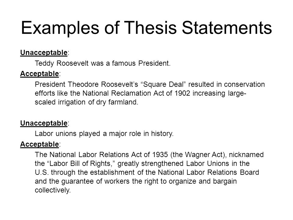 Methods of Creating a Thesis Statement - Studybay