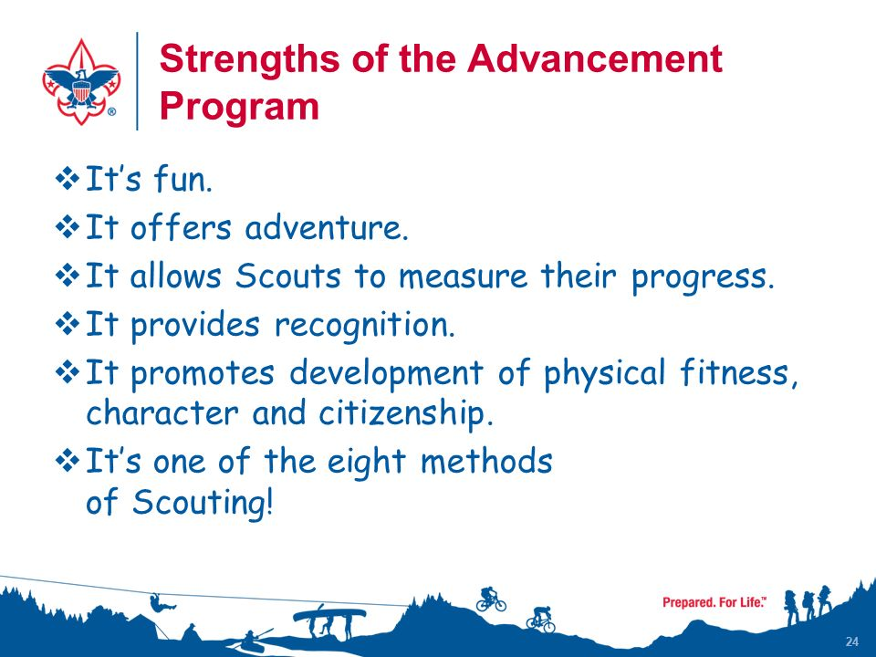 24 Strengths of the Advancement Program IIt's fun.