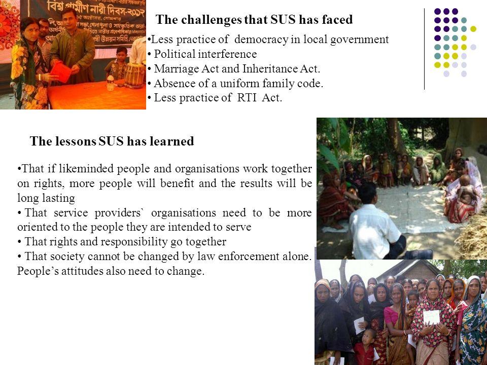 overall practice on unnayan shamunnay organization
