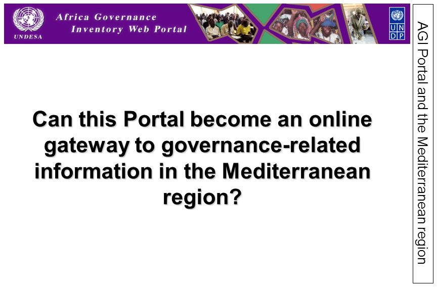 Can this Portal become an online gateway to governance-related information in the Mediterranean region.