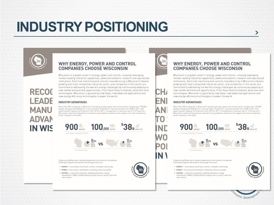 INDUSTRY POSITIONING