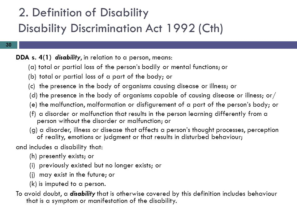 an analysis of the disability discrimination act of 1992 in the united states The enactment of the disability discrimination act 1992 41 enactment of the disability discrimination act dda to go further than the states and territories.