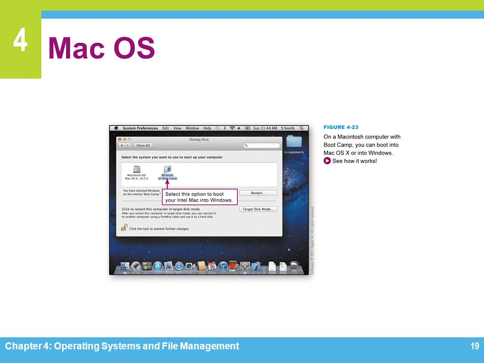 4 Mac OS Chapter 4: Operating Systems and File Management19
