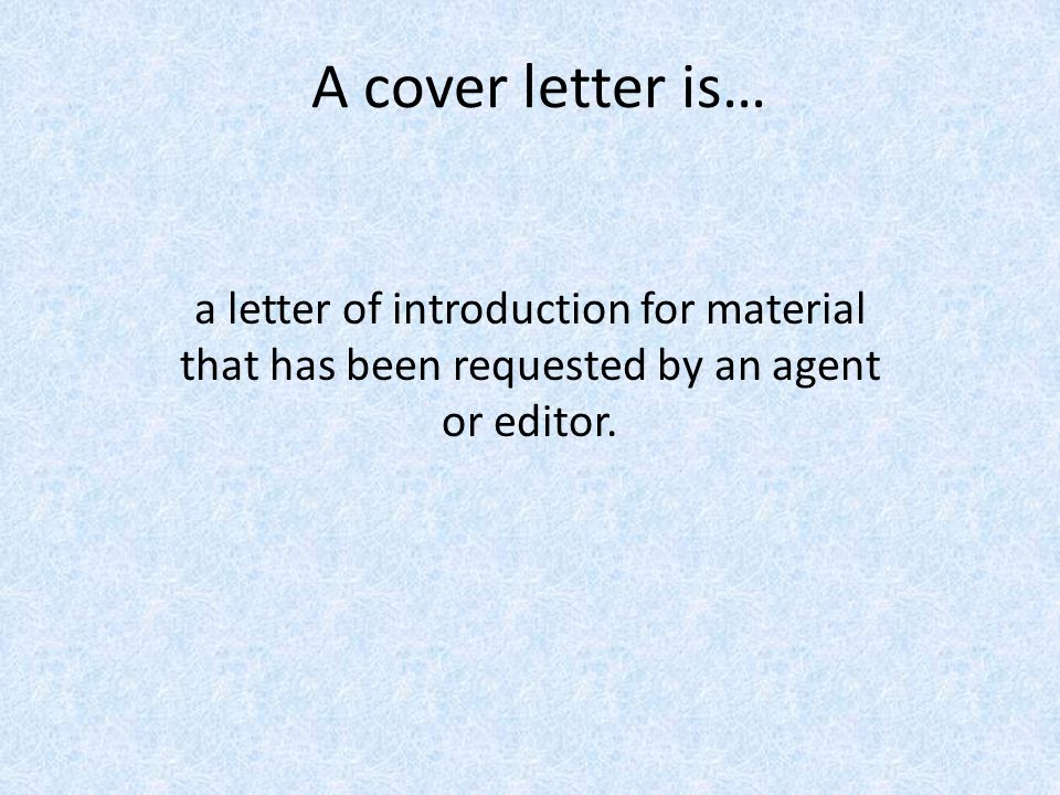 is a cover letter a resume