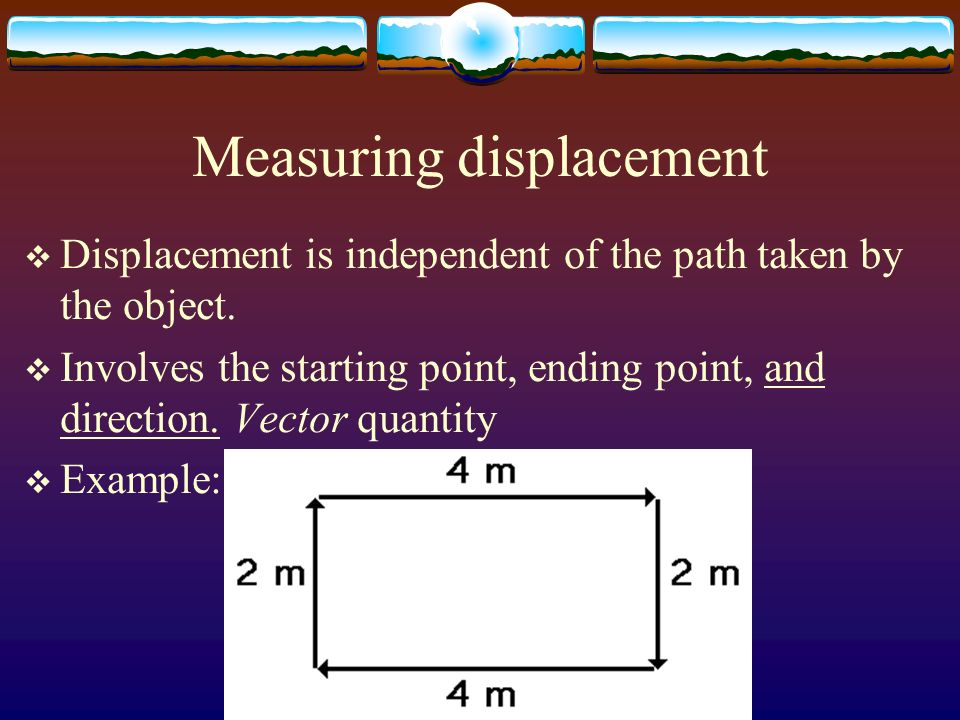 Measuring distance DDistance: the length of a path between two points.